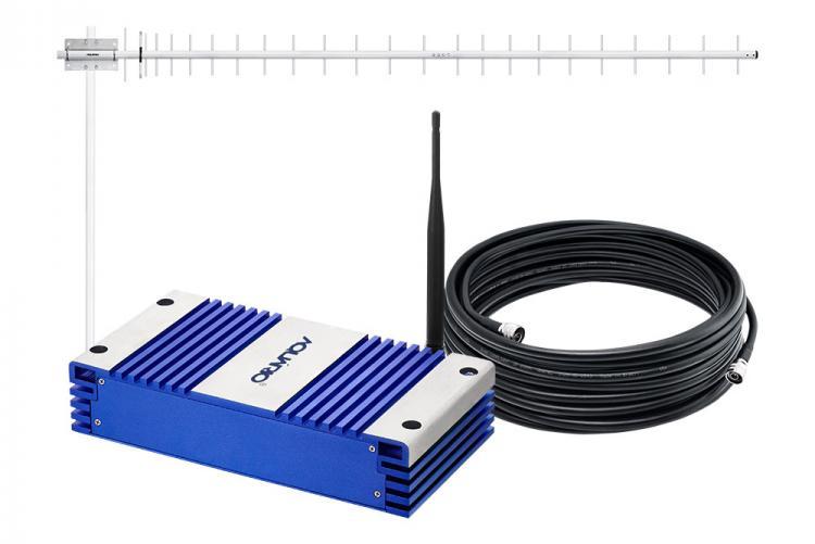 repetidor de sinal de celular com antena e cabo